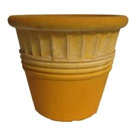 Maceta vaso amarillo grande