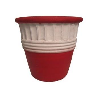 Maceta vaso rojo grande