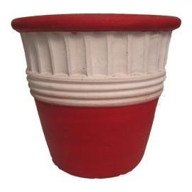 Maceta vaso rojo pequeño